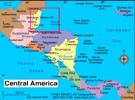 map of belize central america map of belize in central america