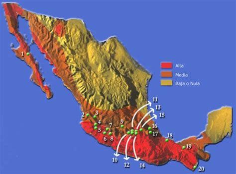 cadena volcanica wikipedia geograf 237 a de m 233 xico y del mundo zonas s 237 smicas y