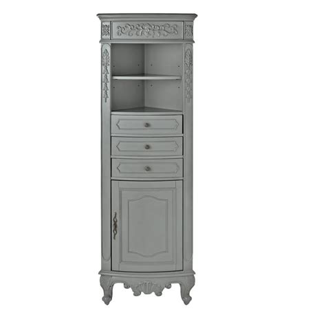 Hton Bay Corner Linen Cabinet Hton Bay Corner 3 Drawer Hton Bay 32 W Corner Cabinet With Two Wood Doors