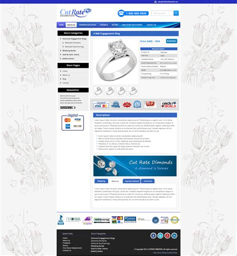 listing templates for ebay custom ebay storefront listing template for jewellery