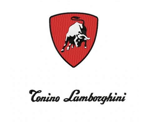 Tonino Lamborghini Logo Tonino Lamborghini Logo Machine Embroidery Design For