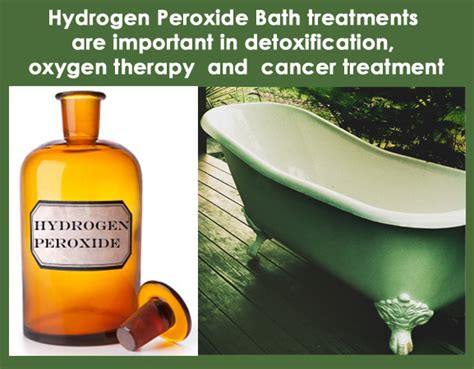 Hydrogen Peroxide Therapy Detox Symptoms by Bath Treatments