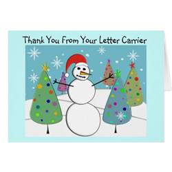 letter carrier thank you cards zazzle