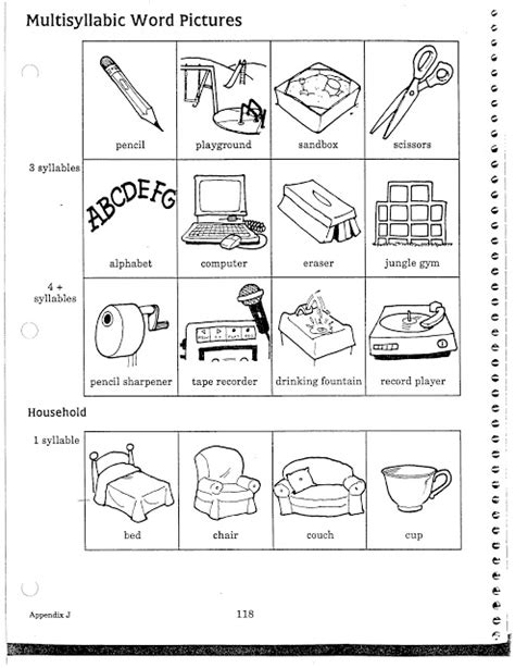 Pictures Of Common Objects For Speech Therapy