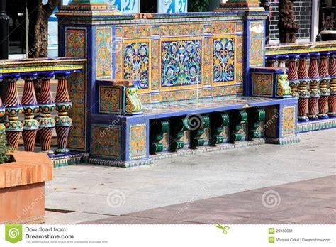 bench en español bench con azulejos espa 241 oles en algeciras espa 241 a imagen