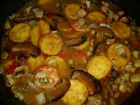 karins recipe sapo tahu soft tofu cooked