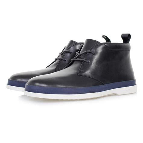 paul smith store inkie navy leather boots