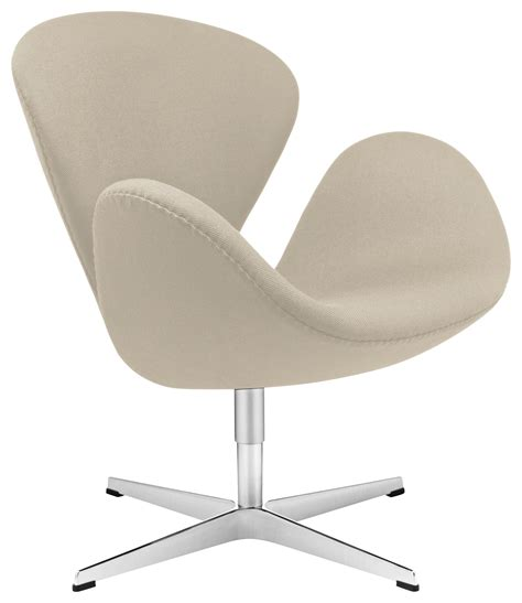 Swan Chair Swivel Armchair Fabric Version Taupe By Fritz Swan Swivel Chair