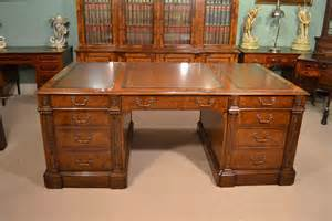 large desks regent antiques desks and writing tables victorian style burr walnut partners pedestal desk