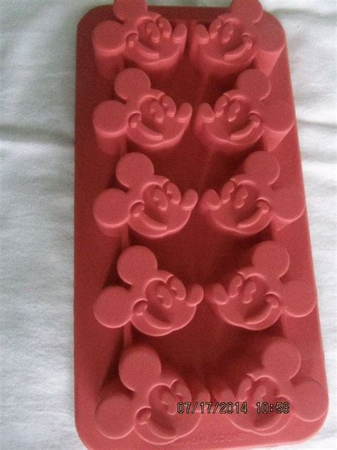 Mickey 4 Cavity 1 mickey mouse silicone cube mold 10 cavity disney