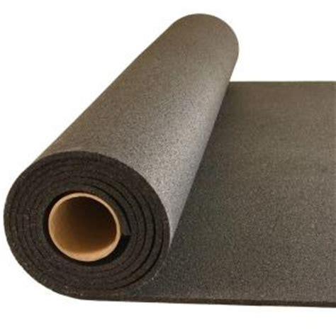 Rubber Floor Mat Roll by Greatmats Plyometric Black 4 Ft X 10 Ft X 0 314 In