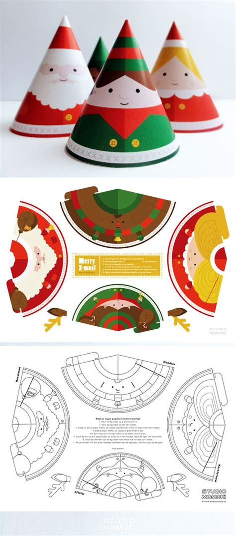 paper toys christmas decorations and make your own on