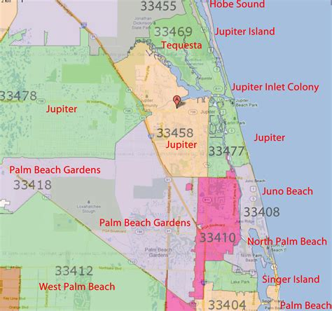 Records Palm County Florida West Palm Florida Zip Code Map W Wall Decal