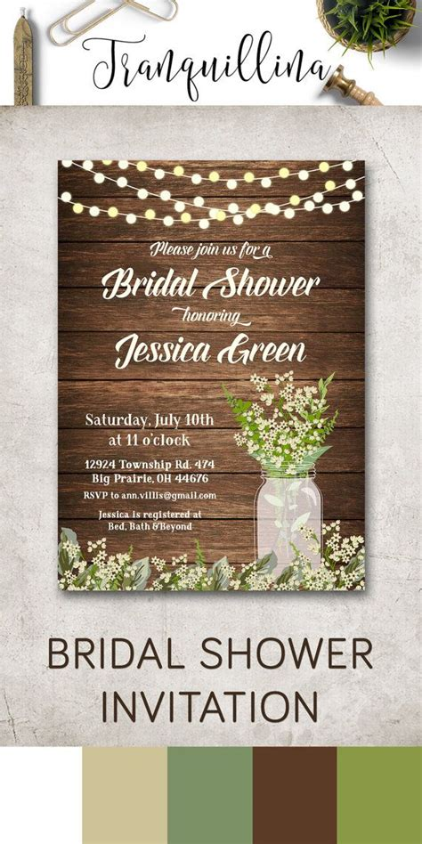 free printable bridal shower invitations rustic rustic bridal shower invitation printable bridal shower