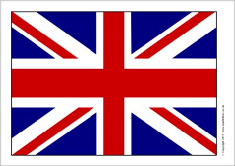 template of union flag to colour printable union flag clipart best