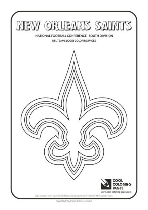 cool coloring pages  orleans saints nfl american