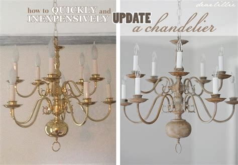 Painting Brass Chandelier Dear Lillie A Chandelier With Chalk Paint