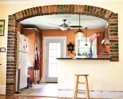 Kitchen Arch Images Brick Gives Mediterranean Flair To Arched Kitchen