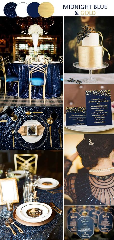 8 stunning wedding colors in shades of gold for 2017 brides blue wedding colors wedding