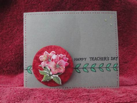 Teachers Day Card Handmade - my handmade cards s day cards