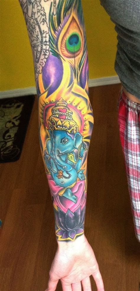 brookside tattoo tulsa saraswati tattoos ganesh saraswati sleeve progress