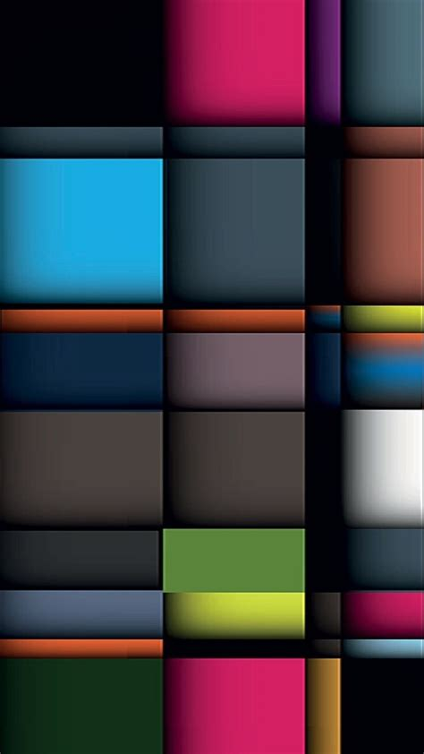 colorful square abstract mobile wallpaper