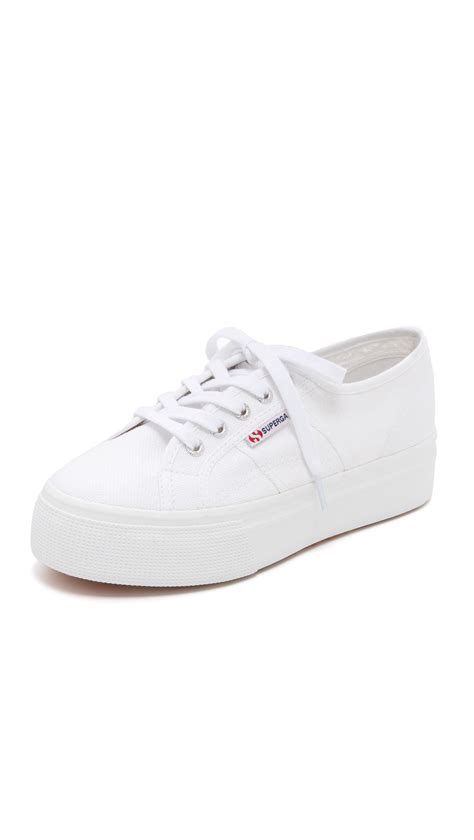 superga platform sneakers superga 2790 acotw platform sneakers in white lyst