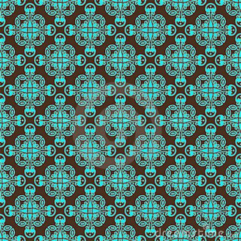 Vibrant Paisley Curtains Brown And Teal Pattern Stock Images Image 12168404