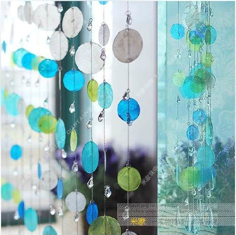 shell beaded curtain customized 5 strings shells bead curtain porch partition