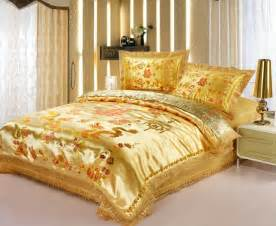Gold Bedding Sets King Size 4pc Gold Brand Bedding Set Duvet Cover Set