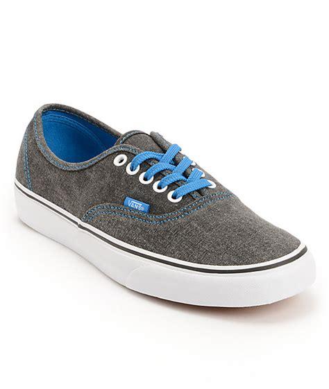 vans authentic washed black blue canvas shoes at zumiez
