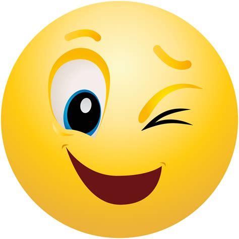 smiley clipart winking emoticon emoji clipart info