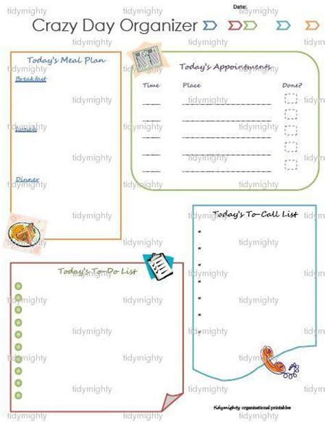 free printable planner organizer crazy day daily planner organizer printable pdf