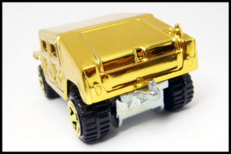 Hotwheels Humvee 598 ミニカーコレクション モノぶろぐー amゼネラル humvee gold by hotwheels 2007