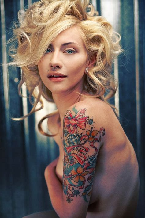 Korean Design by 40 Cool And Pretty Sleeve Tattoo Designs For Women