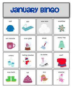 Winter Bingo Card Template by Classroom Winter Winter Words Sentences And