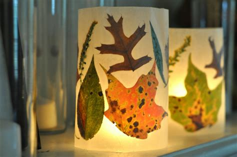 How To Make Wax Paper Leaves - leaf lanterns i ve officially become a craft