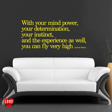 Small Wall Stickers Uk ayrton senna quote with your mind power wall art sticker