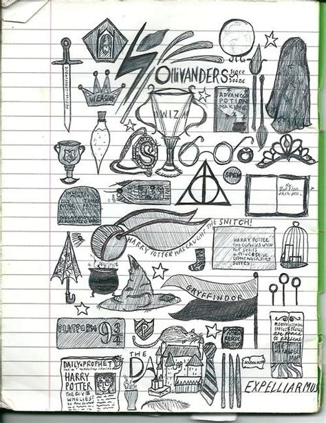 doodle harry potter harry potter things to paint