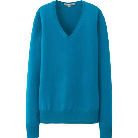 Uniqlo Sweatshirt Vintage Sweater 1 uniqlo merino v neck sweater in blue lyst
