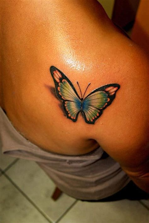 tattoo butterfly with shadow 3d butterfly tattoo tattoos pinterest