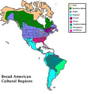 cultural regions of the americas fit in live in areas