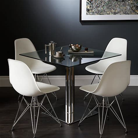 Buy Square Dining Table Buy Lewis Tropez Square 4 Seater Glass Top Dining Table Lewis