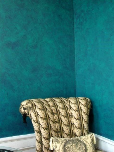 teal feature wall bedroom teal faux paint walls faux finishes interior effects