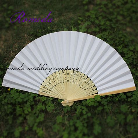 Folding Paper Fans Bulk - free shipping selling 50 pcs lot white folding