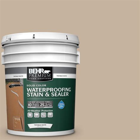 behr premium 5 gal ecc 20 1 canyon view solid waterproofing exterior wood stain and sealer