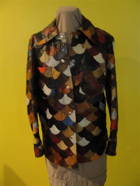 Patchwork Leather Coat - coat of many colors 70 patchwork leather jacket from