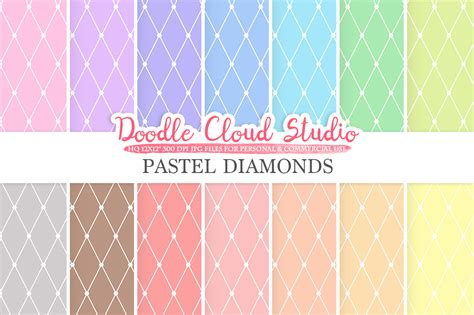 pastel patterned digital paper pastel diamond digital paper diamond pattern digital