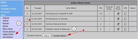 Tambah Halaman Album Foto Large cara menambahkan galeri foto cms balitbang mrapenweb