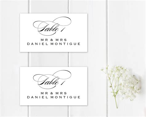 Themed Place Cards Template by Printable Place Card Template Wedding Place Cards Seating